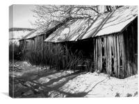 Winter Sheds, Canvas Print