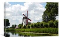 Damme Windmill, Belgium, 2011, Canvas Print