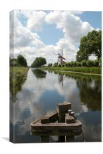 Damme Windmill, Belgium 2, Canvas Print