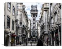 Santa Justa Lift, Lisbon, Canvas Print