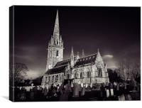 Marble Church, Bodelwyddan, Canvas Print