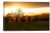 Snowdonia Sunset, Canvas Print