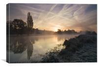 Sunrise over Mapledurham, Canvas Print