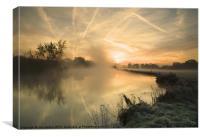Autumn sunrise at Mapledurham, Canvas Print
