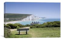 Seven Sisters Cuckmere Haven Sussex, Canvas Print