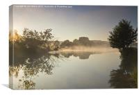 Misty Thames at Mapledurham, Canvas Print
