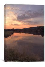 Sunset river Thames, Canvas Print
