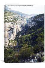 Canyon Du Verdon, Canvas Print