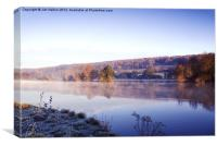 Frosty morning by Thames at Mapledurham, Canvas Print