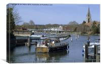 The Thames at Marlow, Canvas Print