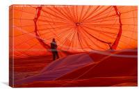inside hot air baloon, Canvas Print