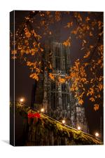 Münster at Christmas 2013, Canvas Print