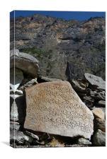 Prayer Stones en route to Pisang, Canvas Print