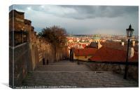 The Steps to Prague Castle, Canvas Print