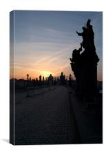 Charles Bridge at Sunrise, Canvas Print