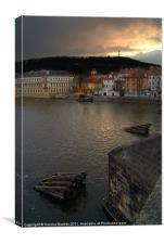 View from Charles Bridge, Prague, Canvas Print