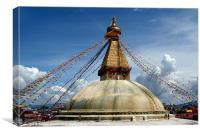 Boudha Stupa, Canvas Print