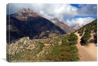 Trekking Path Manang to Yak Kharka, Canvas Print