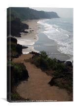 Steps Down to the Beach Varkala, Canvas Print