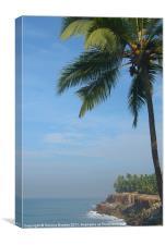 Palm Trees on the Cliff Varkala, Canvas Print