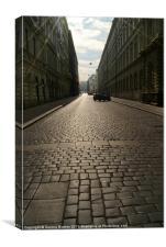 Cobbled Street in Prague, Canvas Print