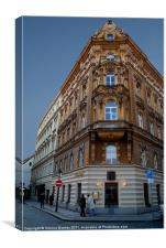 Corner Building, Prague, Canvas Print