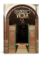 Divadlo Viola Theatre, Prague, Canvas Print