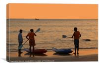 About to go Kayaking Palolem, Canvas Print