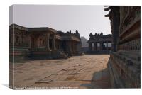 In the Courtyard of Vittala Temple, Canvas Print