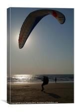 Learning to Paraglide Arambol, Canvas Print
