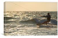 Kitesurfing at Mandrem, Canvas Print