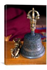 Bell and Vajra Pisang Monastery, Canvas Print