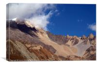 Clouds and Mountains, Yak Kharka to Thorung Phedi, Canvas Print