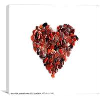 Red Crystal Heart, Canvas Print