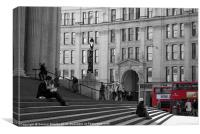 St Pauls Cathedral, London, with London Buses, Canvas Print