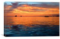 Beautiful Boracay Sunset, Canvas Print