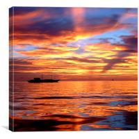 Beautiful Sunset Boracay, Canvas Print