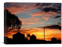 Sunset on the Farm, Canvas Print