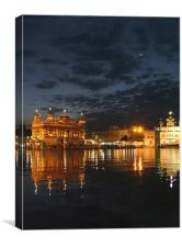 Golden Temple at Night, Canvas Print