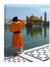 Golden Temple Guard, Canvas Print