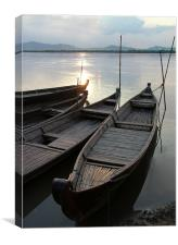 Bamboo Boats, Canvas Print