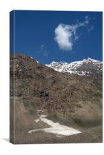 Mountains in Lahaul Valley, Canvas Print