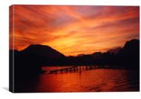Vang Vien Sunset, Canvas Print
