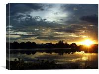 Sunset on the River Kwai, Canvas Print