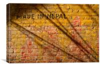 Made in Nepal on Wall, Canvas Print