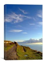 Blue Skies over the White Cliffs of Dover, Canvas Print