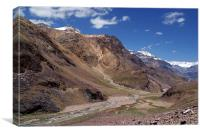Scenery in Spiti Valley, Canvas Print