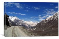 On the Road in Lahaul Valley, Canvas Print