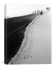 Climbing the Dune, Canvas Print