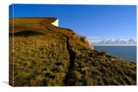 Climbing on the White Cliffs of Dover, Canvas Print